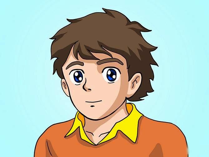 Sweet looking cartoon boy