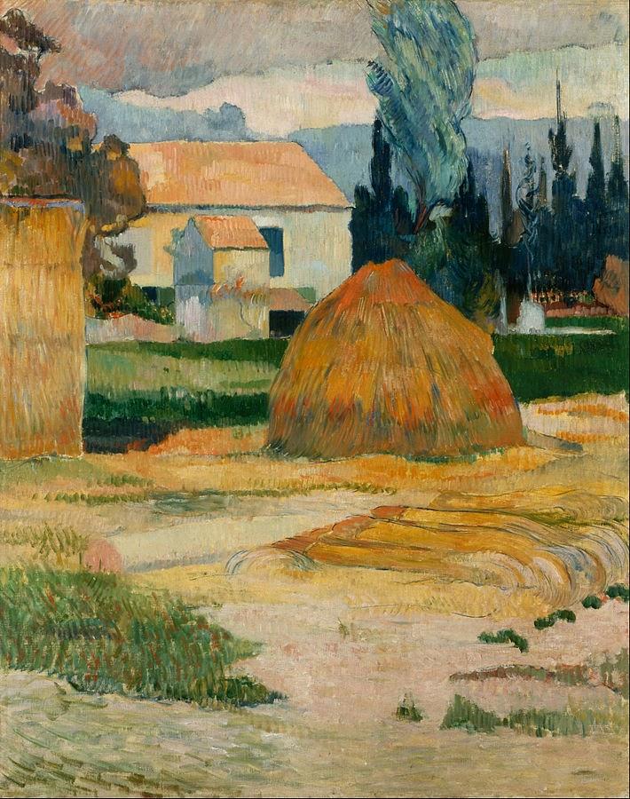 Paul Gauguin Landscape Near Arles