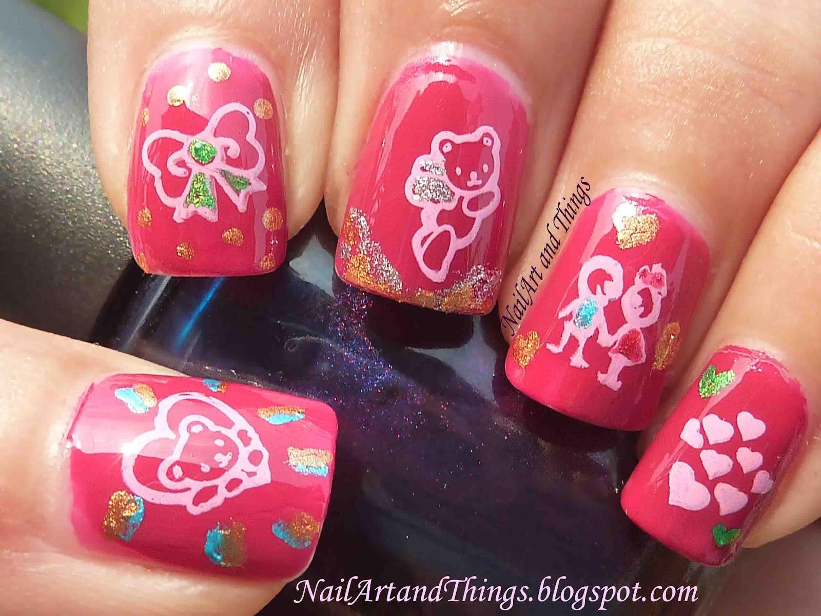 Nailart And Things Cute Teddy Nail Art