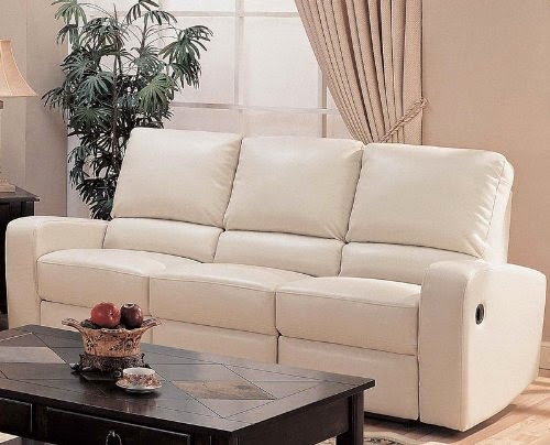 the best reclining sofas ratings reviews cream leather. Black Bedroom Furniture Sets. Home Design Ideas