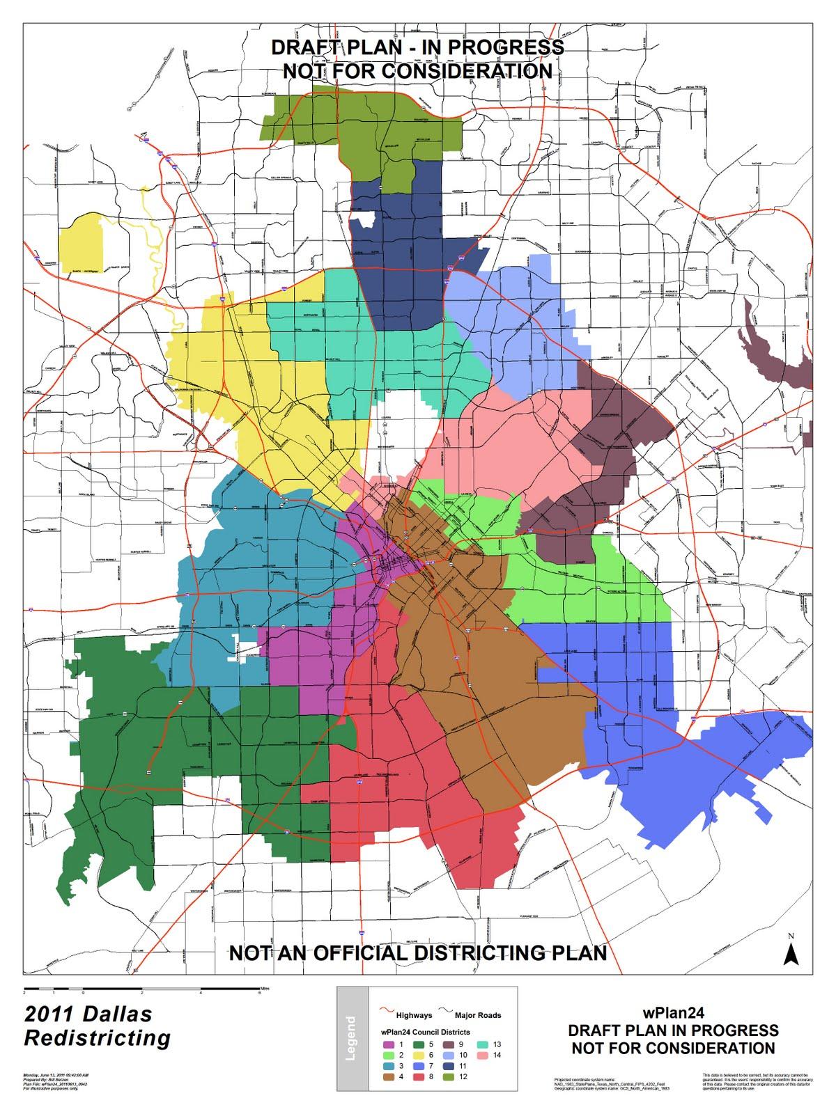 Dallas Redistricting 2011: Fourth Dallas City Council Redistricting on