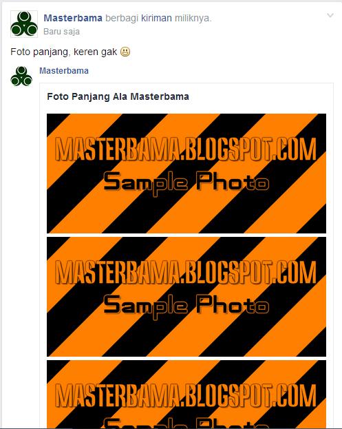 Cara Membuat Banyak Foto/Gambar Panjang Kebawah Di Facebook