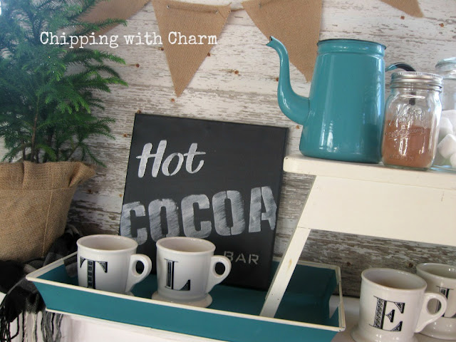 Chipping with Charm: Faux Chalkboard Canvases using Sign Old Sign Stencils...www.chippingwithcharm.blogspot.com