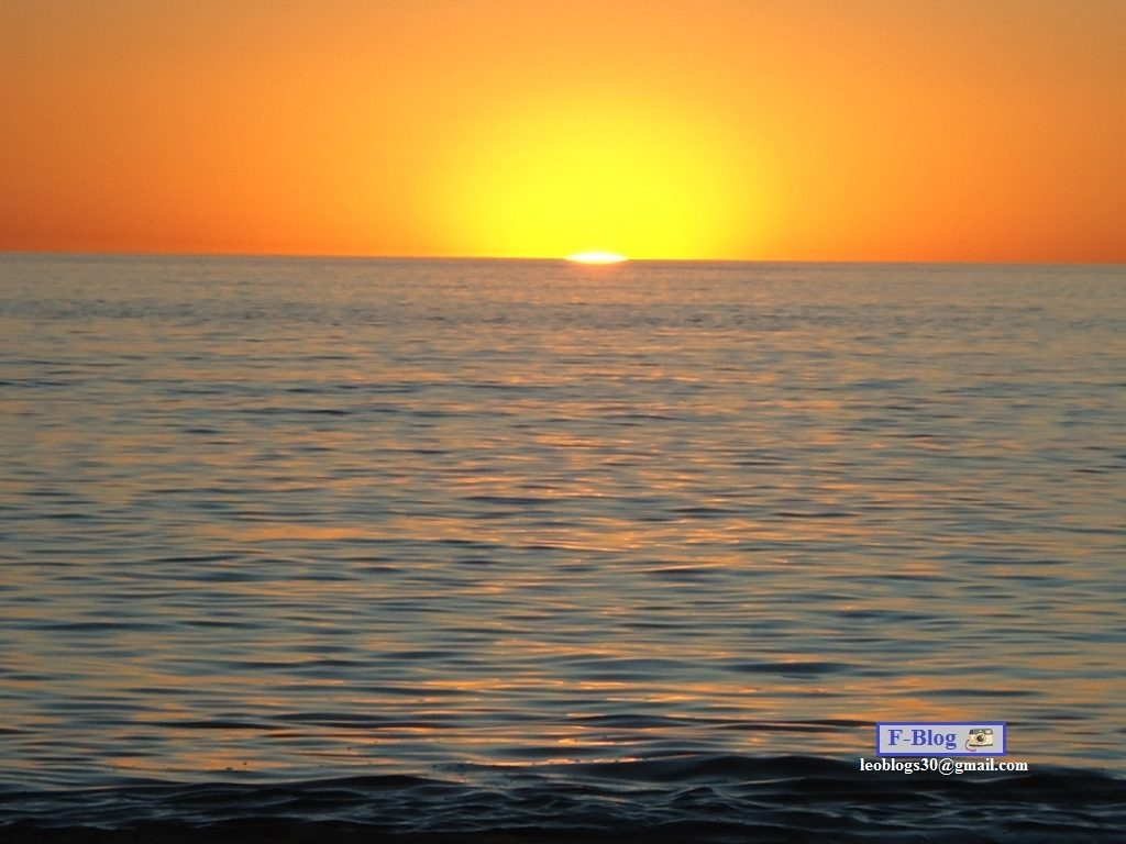 Punta del Este - Atardecer en el mar