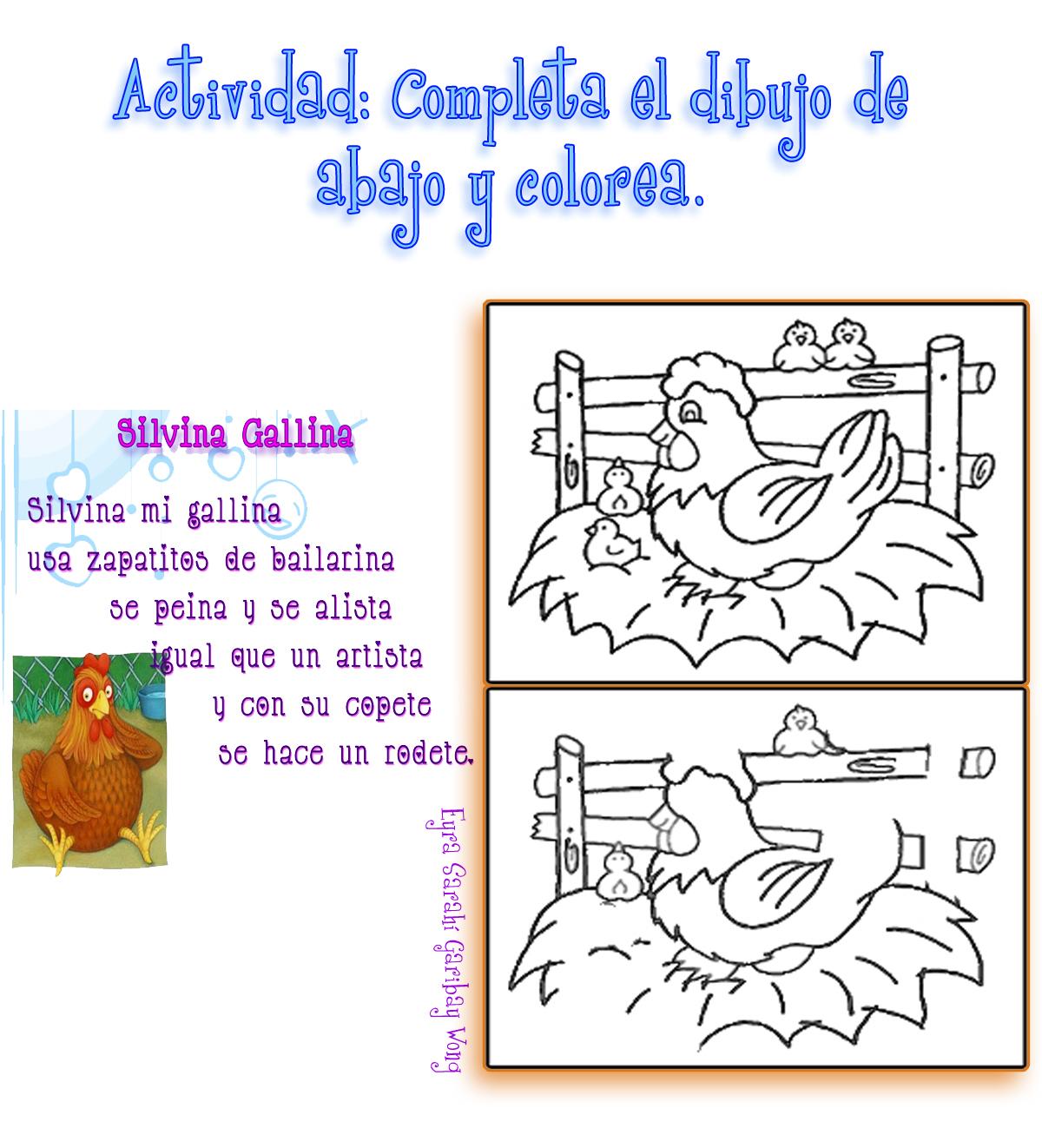 El Lenguaje de los Niños: Rimas para Preescolar con dibujos.