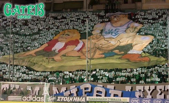 The obscene TIFO at Athens Derby (NSFW-ish)