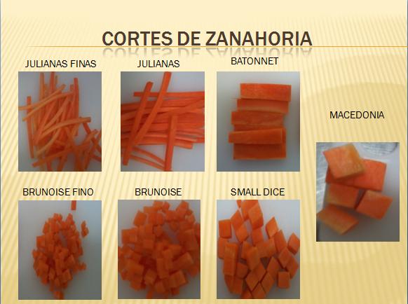 Gastronomia cortes de vegetales for Cortes de verduras gastronomia pdf