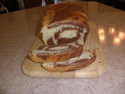Marbled Brioche Loaf