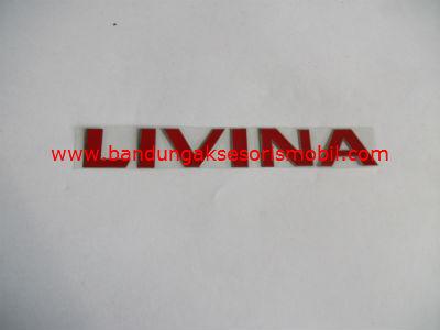 Emblem Alumunium Red Livina