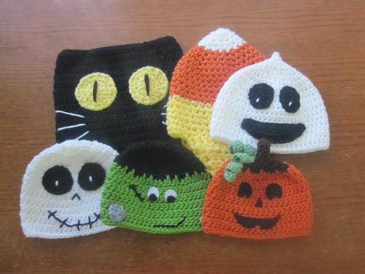 Vistoso Los Patrones De Ganchillo Sombrero De Halloween Friso ...