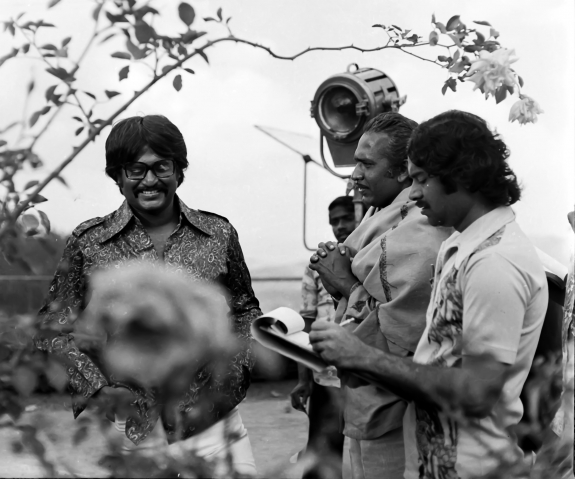 Rajinikanth & Director Mahendran in 'Johnny' Movie