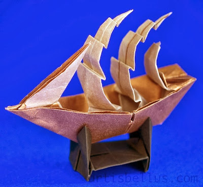 Origami Decoration: Full-rigged Ship