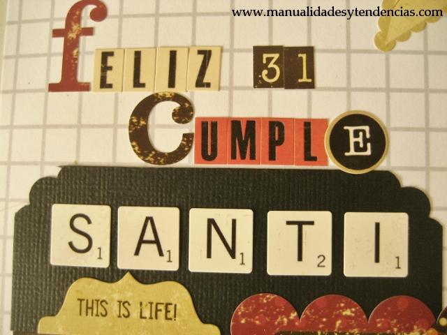 Scrapbooking Tarjeta de cumpleaños chico / Birthday card for a boy / Carte d