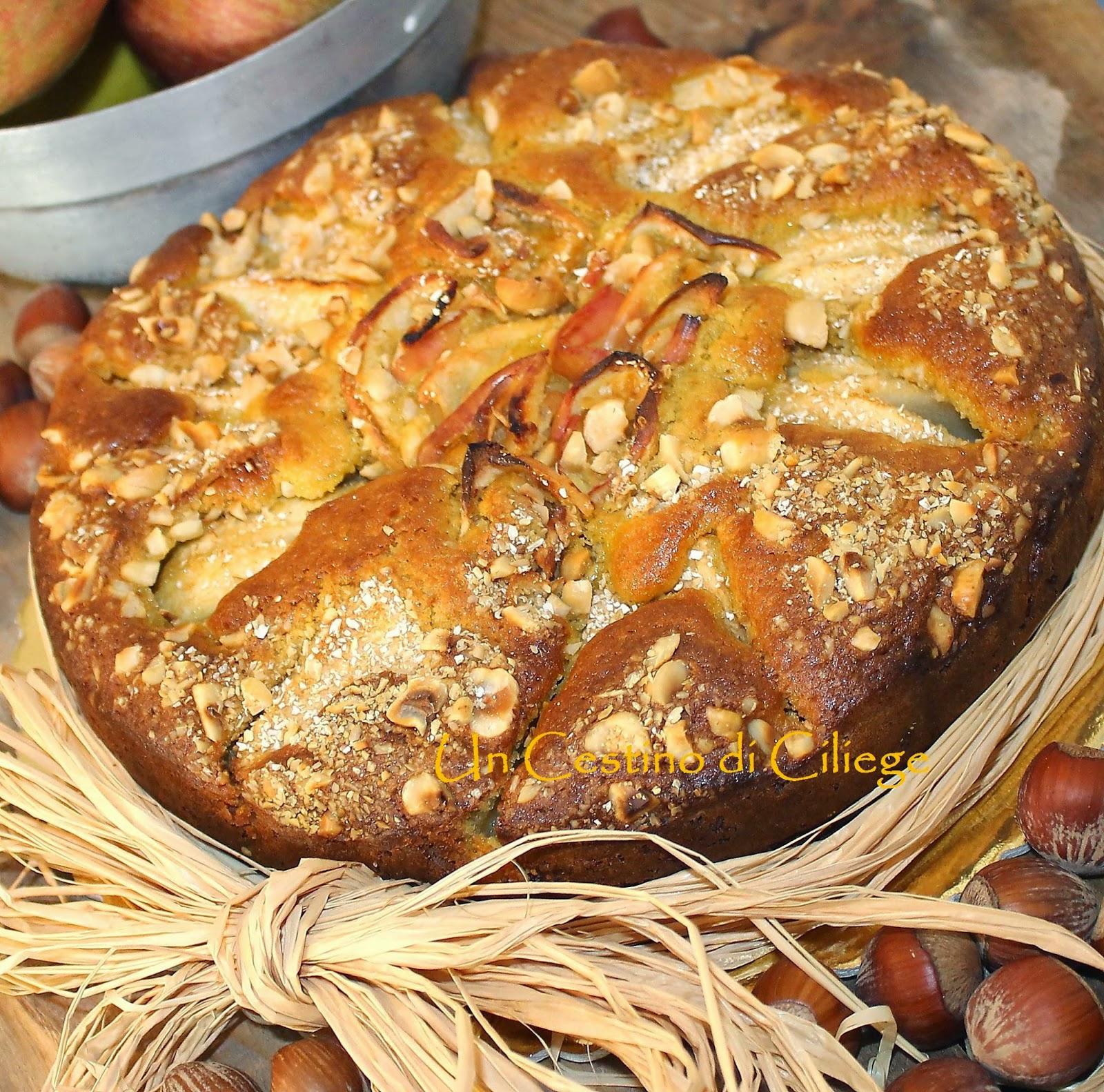 an apple, hazelnut and oat cake!