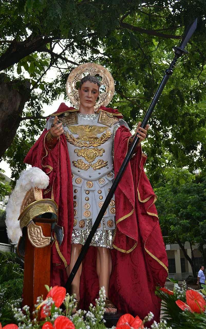 São Longino, o centurião miraculado foi um dos primeiros propagadores da Fé de Jesus Cristo. Procissão nas Filipinas