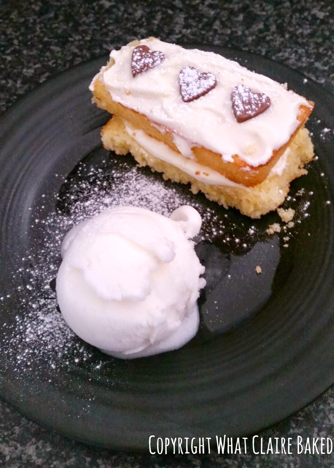Gluten Free lemon cake bar