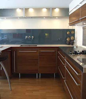dark brown kitchen cabinet