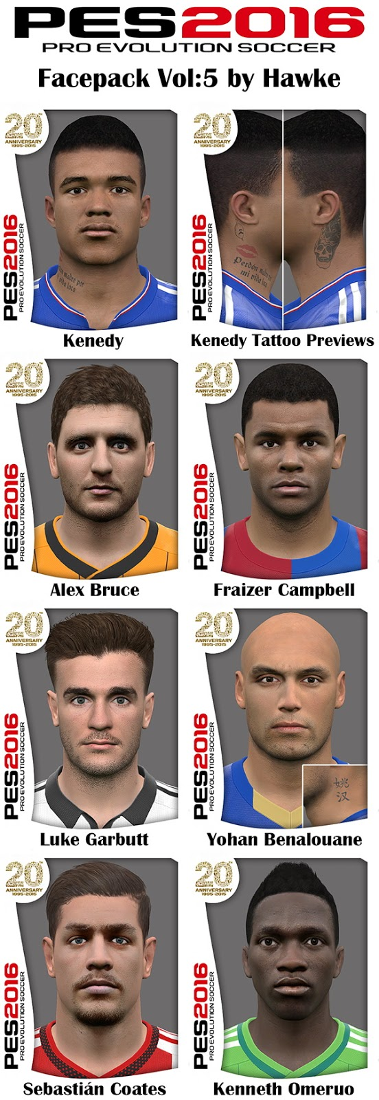 PES 2016 Facepack Vol:5 by Hawke