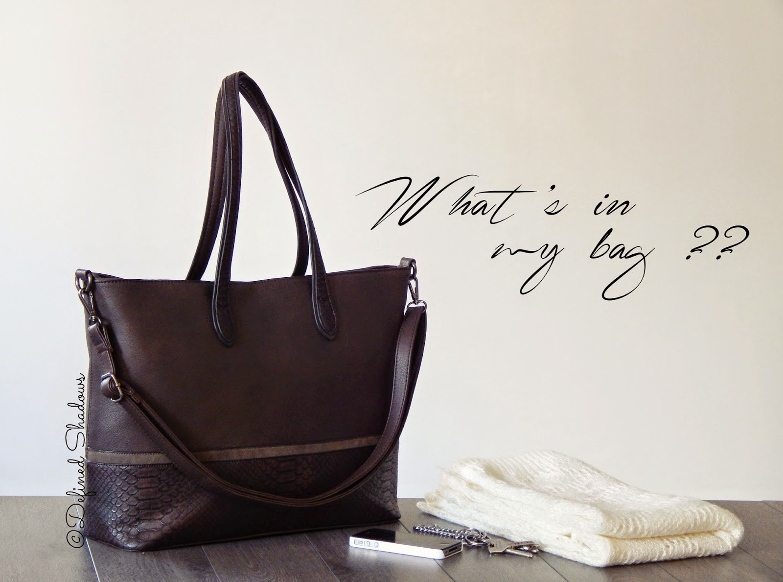Tag What's in my bag: édition mon sac pour