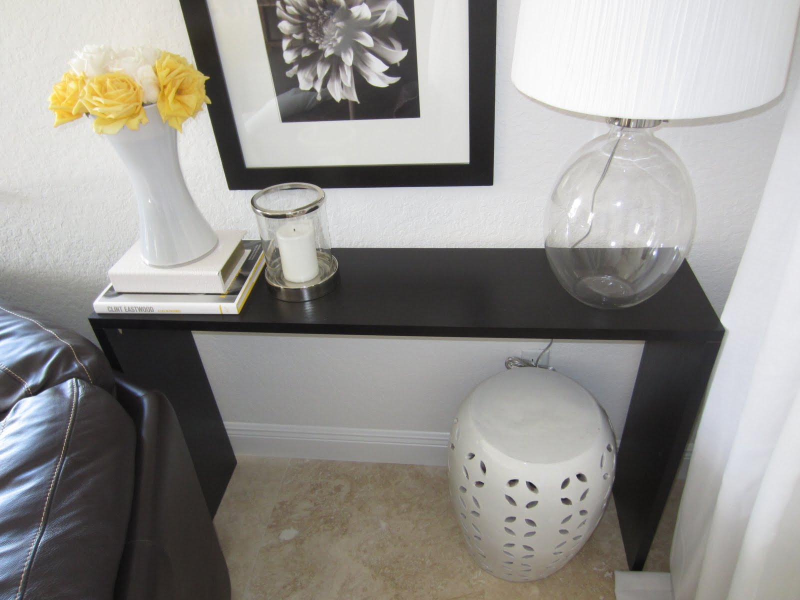 DIY Console Table With Ikea Shelves, Finished