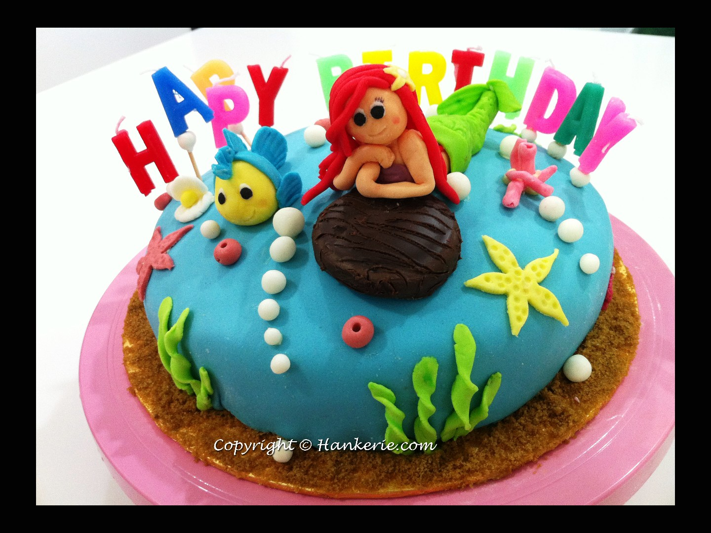 The Little Mermaid Ariel fondant cake Hankerie