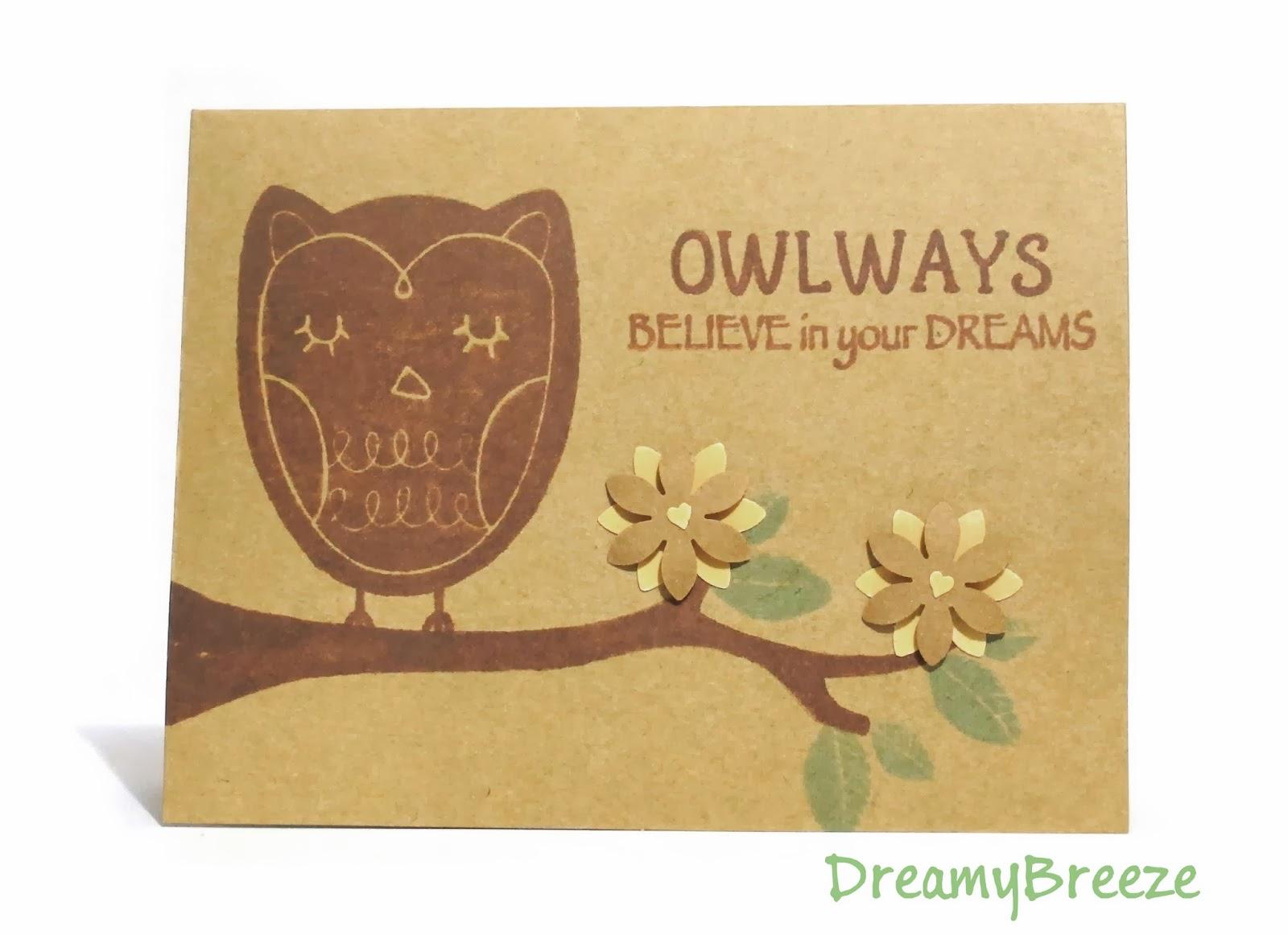"""""""Owlways"""" Believe in your Dreams"""