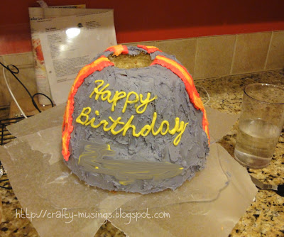 volcano cake!