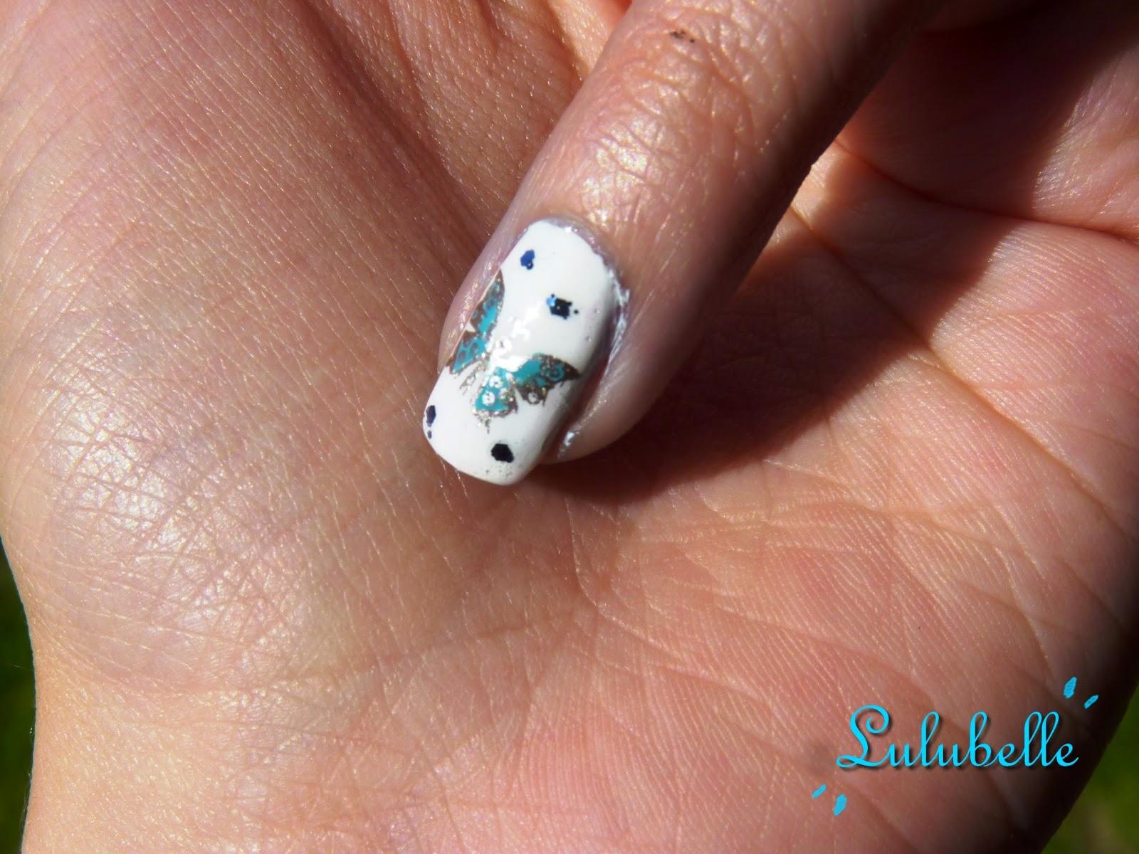 nail art lulubelle papillon