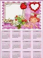 Moldura Moranguinho calendário 2014