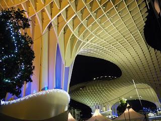 Iluminación navideña en las Setas de la Encarnación - Sevilla
