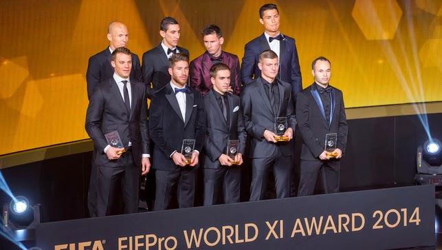 2014 Award Winners of FIFA