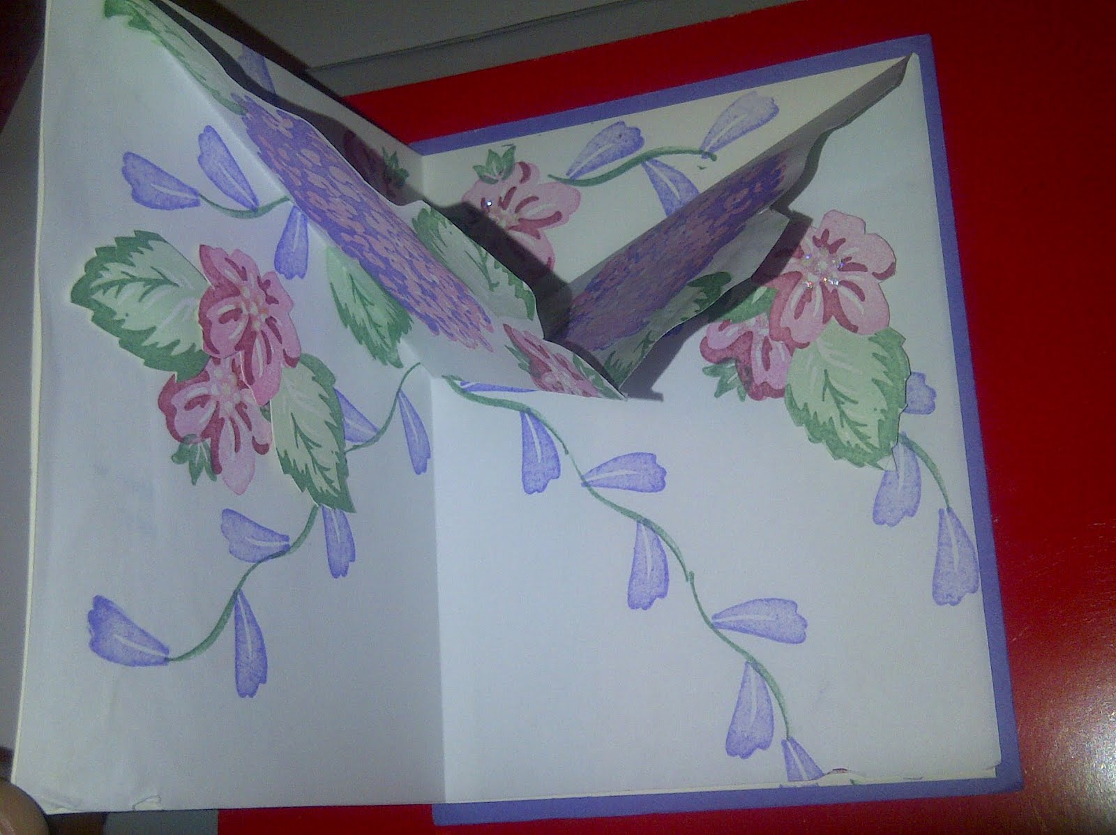 Romantic Stamping Pop Up Origami Flower Card Stamps By Stampin Up