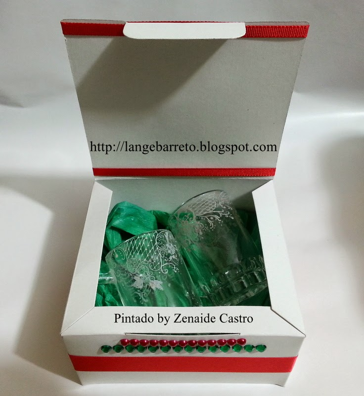 Caixa natalina decorada