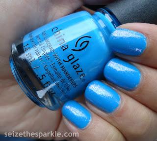 China Glaze DJ Blue By You & Pure Ice Iris