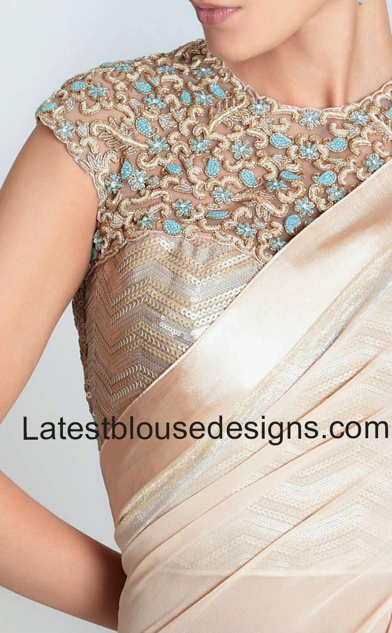 latest netted blouse deisgns