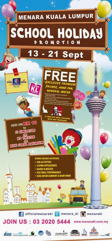 School Holiday Promotion @ Menara Kuala Lumpur