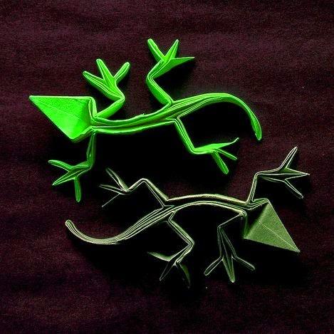 origami lizards