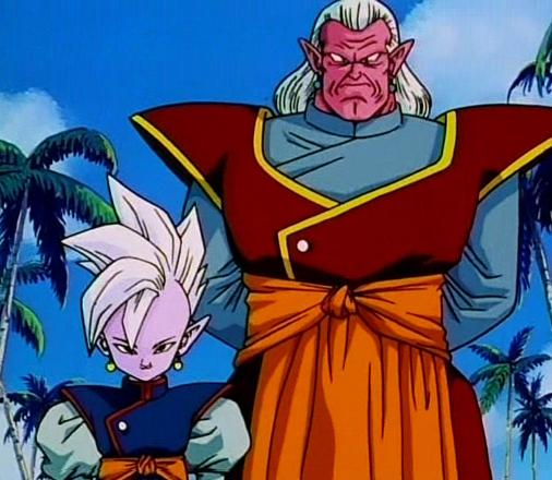 Kaioshin do Leste, e seu companheiro Kibito