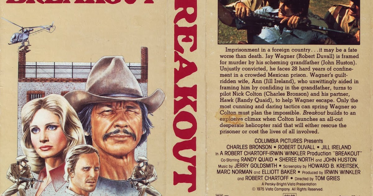 VHS Cover Scans: Breakout (1975) Sheree North Breakout