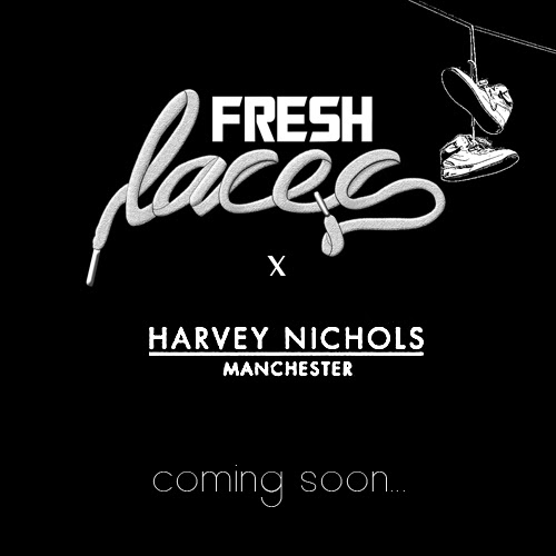 fresh laces harvey nichols elisha francis jewellery footwear sneaker event london manchester