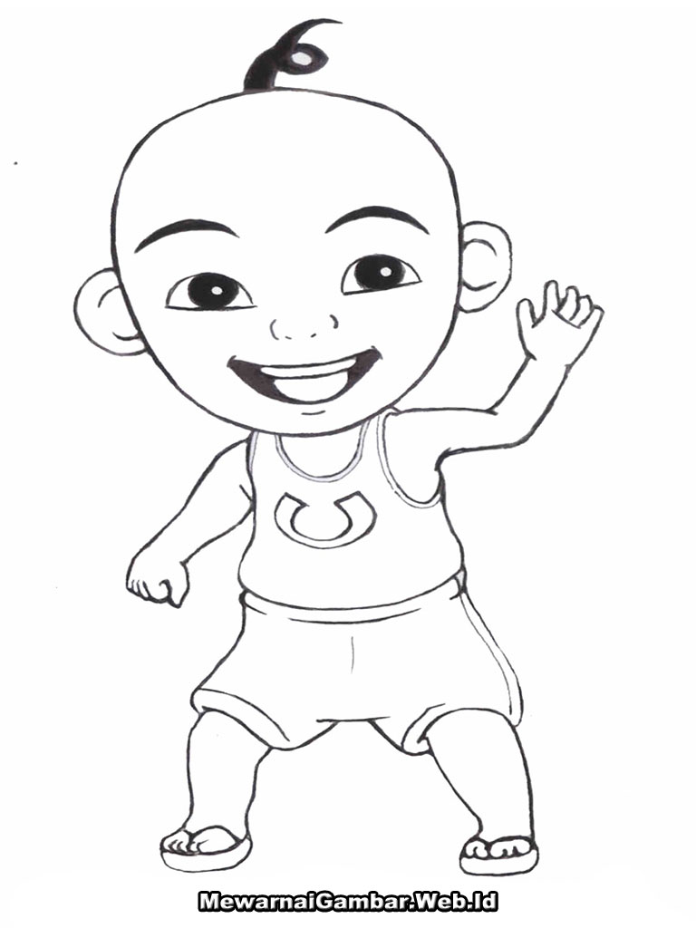 Colouring Pages Upin Ipin Free Coloring Of And