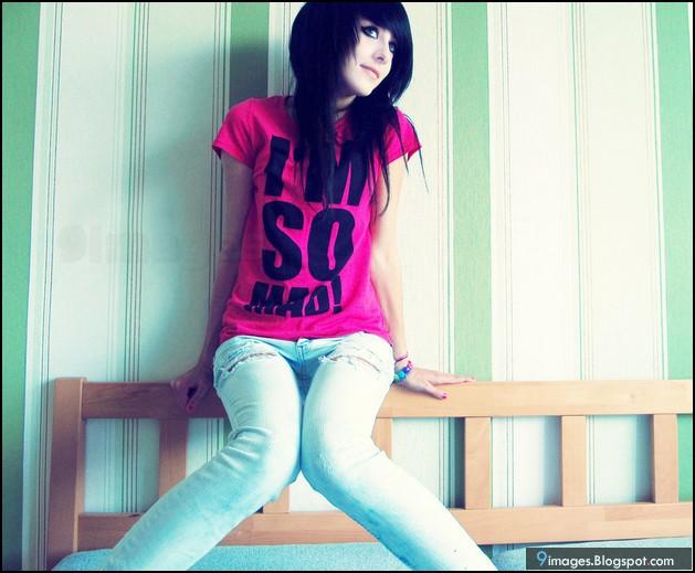 Emo Girl Cute Fashion Bed