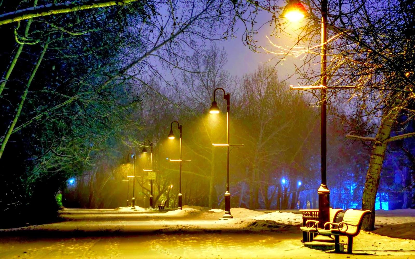 Missing beats of life winter season at night hd wallpaper - Night light hd wallpaper ...