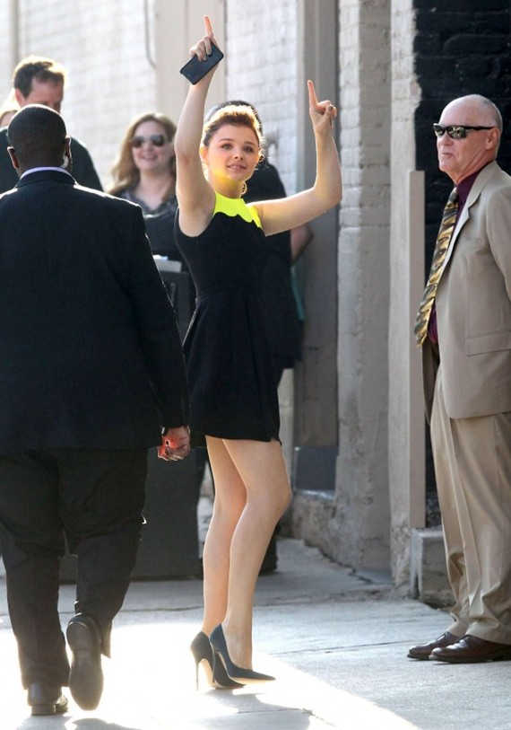 Chloe Moretz – Outside Jimmy Kimmel Live