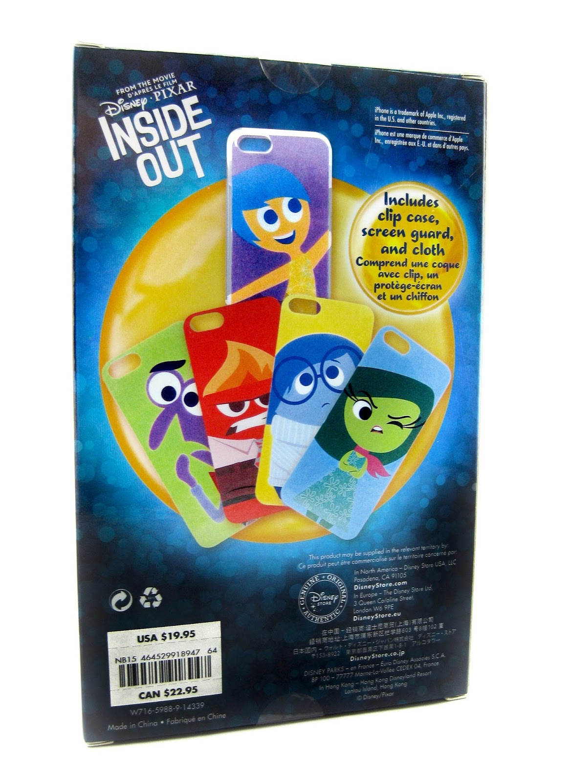 dan the pixar fan inside out interchangeable iphone case disney store exclusive. Black Bedroom Furniture Sets. Home Design Ideas