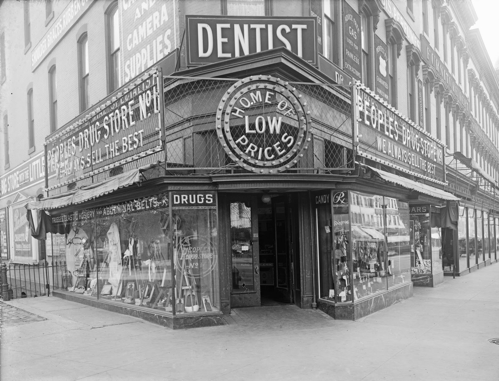 the once ubiquitous peoples drug stores streets of washington the 7th and k streets nw store circa 1919 day and night views source library of congress