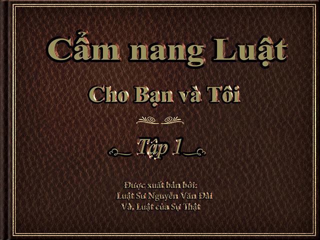 Cẩm Nang Luật cho Bạn và Tôi