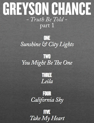"Greyson Chance New EP ""Truth Be Told"" Track List"