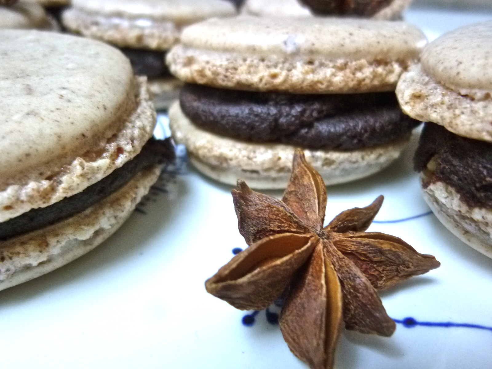 Diary of a Mad Hausfrau: Star Anise Macarons with Dark ...