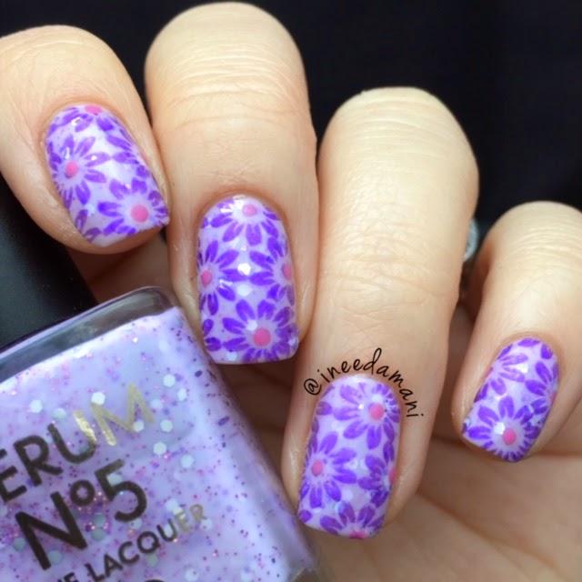 lilac floral spring mani bornprettystore bp46
